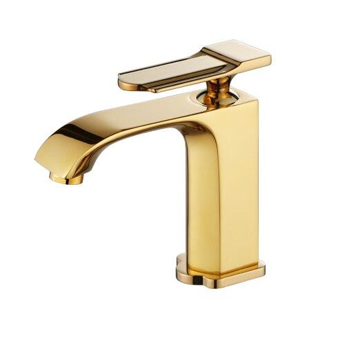 Vidric vente en gros 100% laiton Style moderne Design or/Chrome/noir mitigeur monotrou salle de bain navire bassin robinet + Tube
