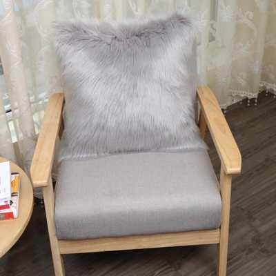 人工 wooll 腰椎枕フェイクファーソファ投げるクッションホームインテリアソファロング豪華なスローギフト Decorativos