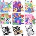Детские книги для раннего развития 0-12 месяцев Обучающие игрушки черная белая визуальная Мягкая тканевая Книга со звуком для детских меропр...