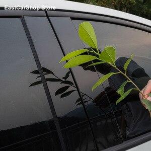 Image 3 - Porta do carro janela coluna meio guarnição decoração tira de proteção adesivos para toyota innova crysta 2020 2021