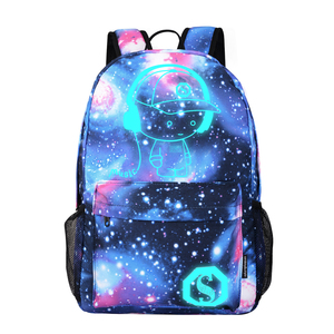 Image 3 - DIOMO Cool Luminous School Bags for Boys and Girls Backpack with USB Charging Anime Backpack For Teenager Girls Anti theft