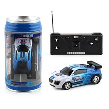 Mini Wireless Remote Control Toy Car Cola Cans Speed Racing Electric Four-way Model For Children