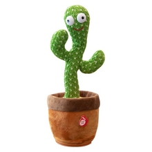 Baby Child Dancing Cactus Electronic Plush Toys Twisting Singing Talking Novelty Funny Music luminescent Gifts