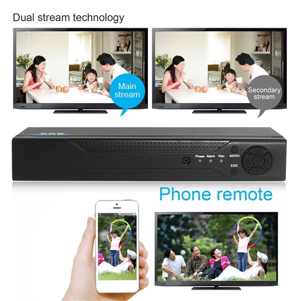 8 Channels H.264 DVR Surveillance Security 960H Recorder DVR P2P Hard Disk Video Recorder Support Phone Remote Monitoring