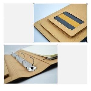 Image 4 - 다기능 A4 폴더 Pu 가죽 다기능 폴더 사무 용품 비즈니스 관리자 계산기