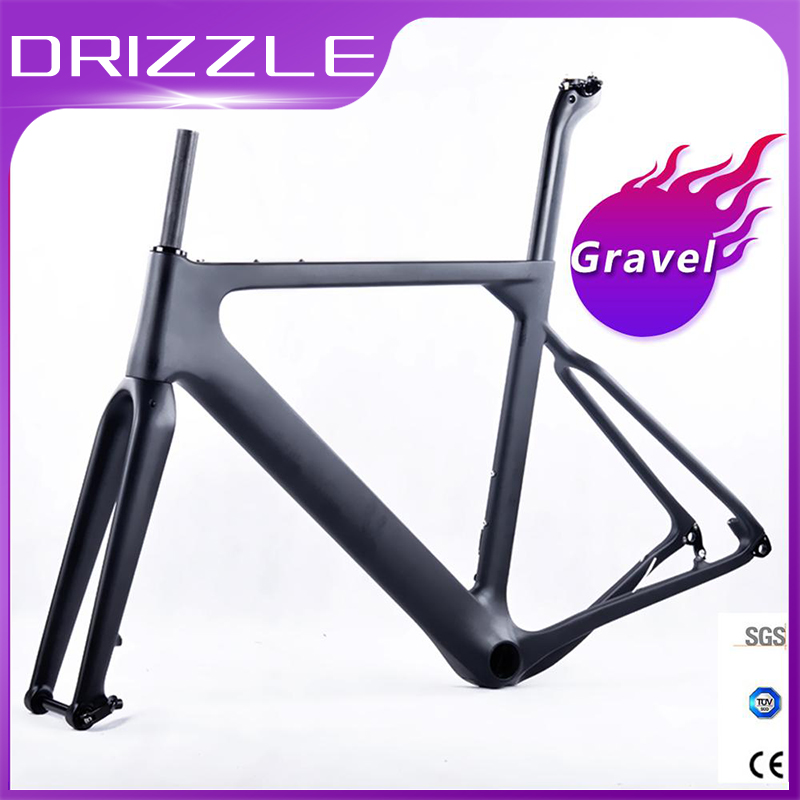 Carbon Gravel Bike Frame Aero Road Or MTB Frame 142x12mm Disc Brake Cross Country Gravel Ultralight Carbon Bicycle Frame Parts