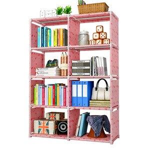 Image 3 - Книжная полка GIANTEX для хранения книг детская книжная полка книжный шкаф для домашней мебели Boekenkast Librero estanteria kitaplik