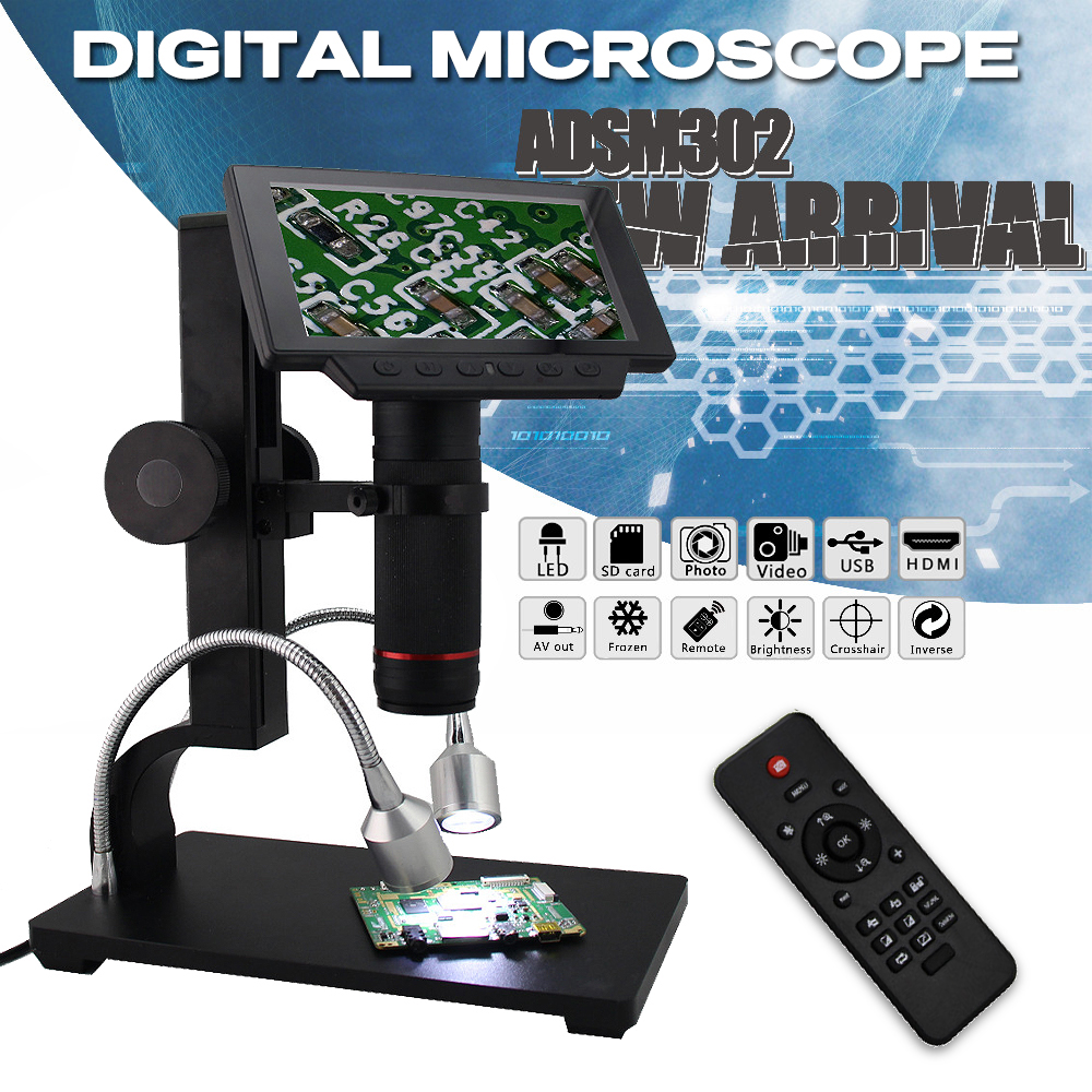 ADSM302 Alta Objeto Distância Digital USB Microscópio Para O Reparo Do Telefone Móvel Ferramenta De Solda SMD De Medição Ferramenta Reparing
