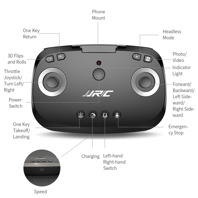 Drone Quadcopter Real-time Transmission Helicopter Toys JJRC Leaper H96 5.8G WiFi FPV Drone with Angle Adjustable Camera RC 3
