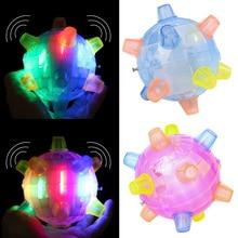 baby Kids Toys Led Jumping Joggle Bopper Flashing Light Music Bouncing Vibrating Ball Toy