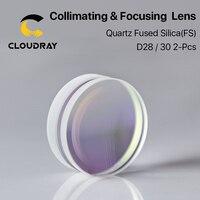 Sphärische Fokussierung Objektiv D28 D30 F75/100/125/150/155/200mm 2Pcs Quarz quarzglas für Hohe Energie Faser Laser 1064nm