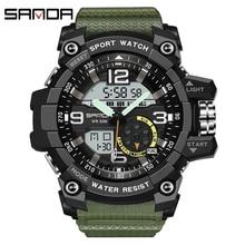 SANDA Top Brand Luxury Military Army Sports Watch Men'S Waterproof S Shock Quartz Analog LED Digital Watch Men Relogio Masculino цена и фото