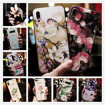 Перейти на Алиэкспресс и купить Силиконовый чехол для телефона Leagoo M13, мягкий рельефный 3D-чехол с тиснеными цветами для Leagoo M11, Z10, S11, S10, power 2, M5 Plus, M7, M 13