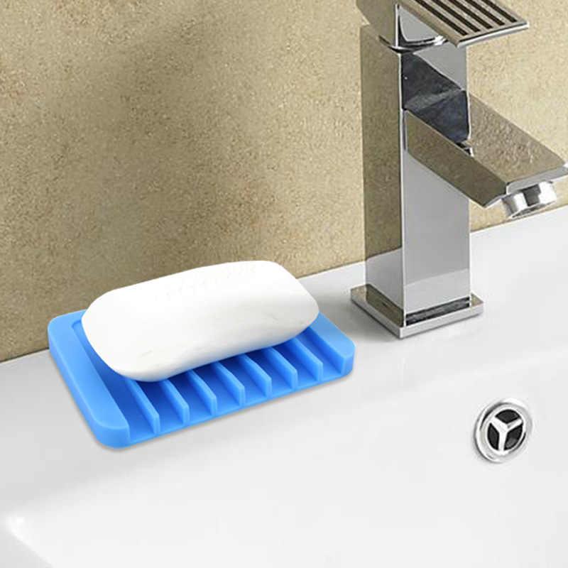 Przenośny mydelniczki łazienka prysznic silikonowy elastyczny do przechowywania mydła płyta spustowy domu łazienka produkty
