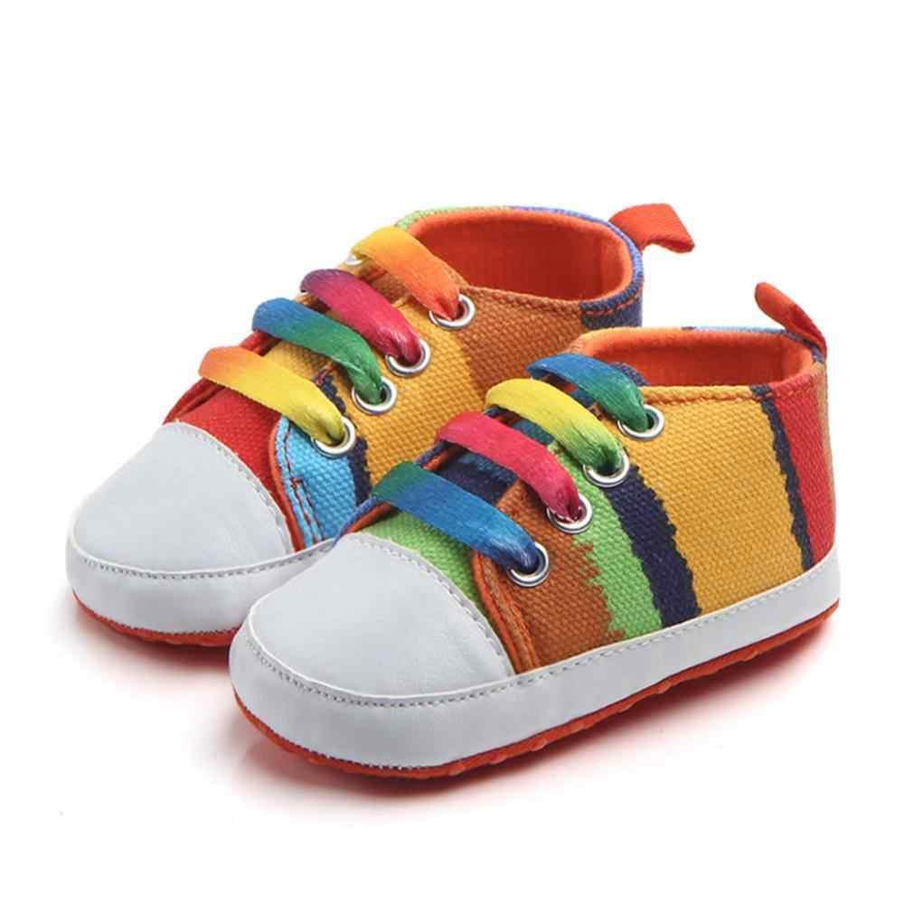 Nuevos zapatos clásicos de lona para niños, suela suave, transpirables, para niños, primeros caminantes, zapatos Vaqueros, zapatos planos informales para niños, J11