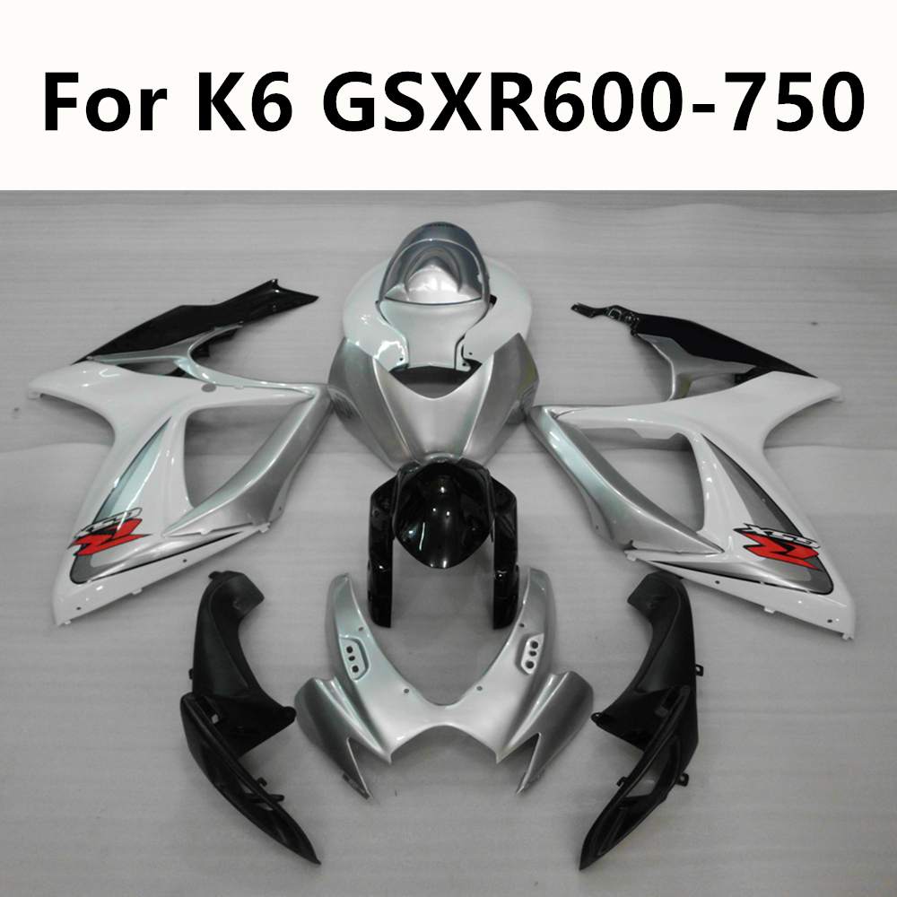 4 Colour Semicircular hook Blue silver red Motorcycle For Suzuki K6 <font><b>GSXR</b></font> <font><b>600</b></font> 750 2006 <font><b>2007</b></font> Full <font><b>Fairing</b></font> Kits Kit Injection image