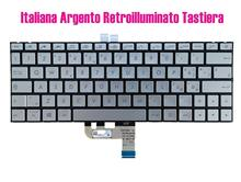 Teclado backlit prata italiana para asus zenbook ux333fa ux333fn