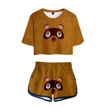 WAWNI 2020 New 2 pieces Set Fashion Animal Crossing New Hori