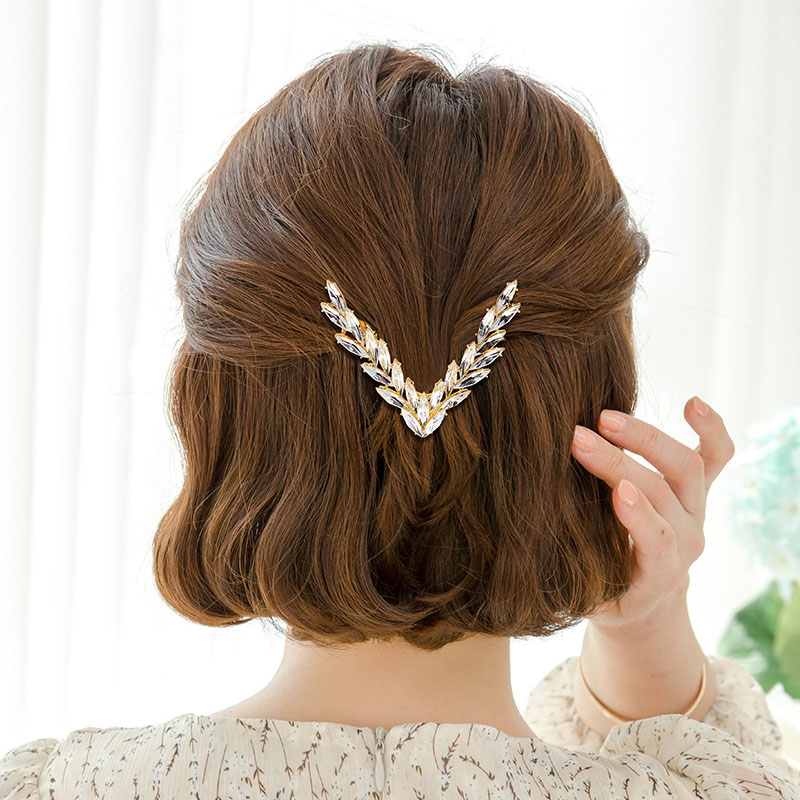 2020 Fashion Hair Accessoires Hairpins Hair Ornaments Hair Clip Shiny Rhinestone  Girl Accessories Headwear Hair Claws For Women