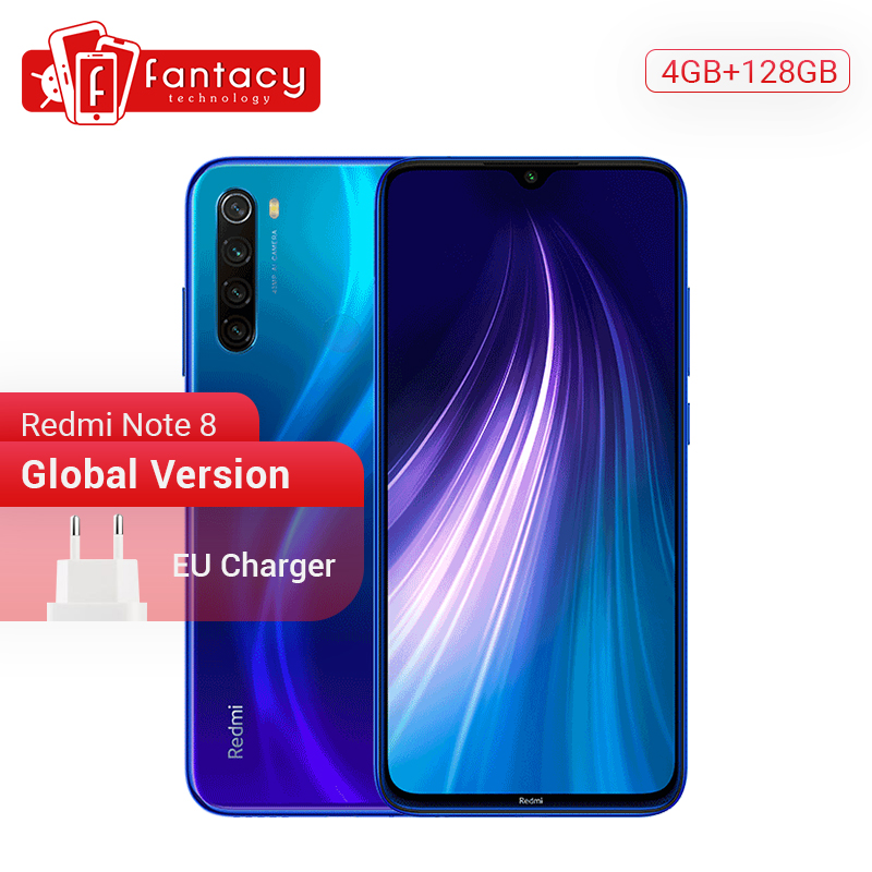 <font><b>Globale</b></font> <font><b>Version</b></font> <font><b>Xiaomi</b></font> Redmi Hinweis 8 4GB 128G 48MP Quad Kamera Smartphone Snapdragon 665 Octa Core 6,3