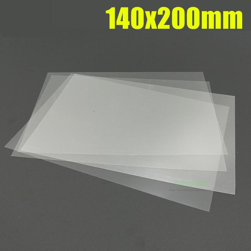 4pcs 140x200mm FEP Sheet 0.1mm Thick Teflon Film For ANYCUBIC Photon /Photon S 3D Printer