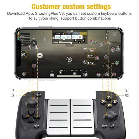 Controlador de Jogo Joystick para Samsung 7007f sem Fio Nova Saitake Bluetooth Telescópico Gamepad Xiaomi Huawei Android Telefone pc