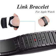 Ремешок из нержавеющей стали 316l для apple watch band 5 4 браслет