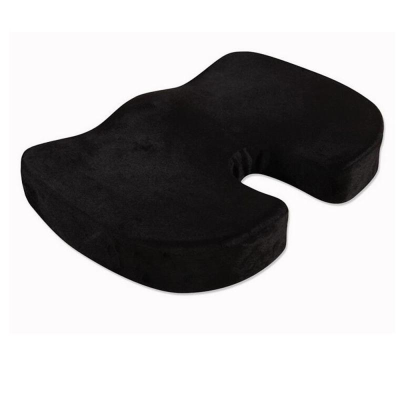 lowest price 1Pcs Coccyx Orthopedic Memory Foam Seat Cushion Covers Offic Chair Car Pad Pain Relief Lumbar U-shaped Auto Interior Accessories
