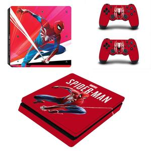 Image 3 - Spiderman Full Cover Frontjes PS4 Slim Skin Sticker Decal Vinyl Voor Playstation 4 Console En Controllers PS4 Slim Skin Sticker