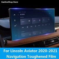 Coche HD/Anti-Luz Azul pantalla de navegación Protector de vidrio película templado funda protectora de pantalla para Lincoln Aviator 2020 de 2021