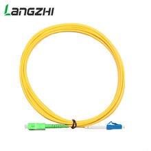 10 Pz/borsa SC LC 3M Simplex Modalità Singola G652D In Fibra Ottica Patch Cord SC/APC LC/UPC 3M 3.0 millimetri Rivestimento di PVC FTTH Fibra Ottica Ponticello