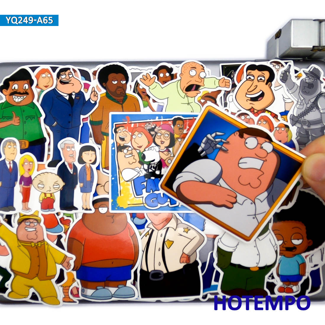 65pcs Funny Classic Cartoon TV Series Family Guy Style Stickers For DIY Laptop Suitcase Skateboard Mobile Phone Anime Stickers