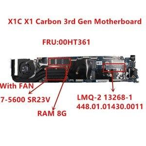 Image 1 - Computador portátil mainboard LMQ 2 mb para lenovo thinkpad x1c x1 carbono 2015 I7 5600U notebook placa mãe rma 8g 00ht361 100% testado ok