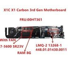 Laptop Mainboard LMQ 2 MB For Lenovo Thinkpad X1C X1 Carbon 2015 I7 5600U Notebook motherboard RMA 8G 00HT361 100% tested ok