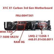 Mainboard del computer portatile LMQ 2 MB Per Lenovo Thinkpad X1C X1 Carbonio 2015 I7 5600U scheda madre del Notebook RMA 8G 00HT361 testati al 100% ok