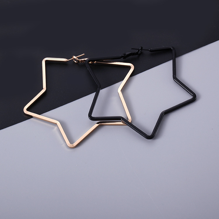 2020 New Earrings Personality Contracted Eardrop Hollow Out Long South Star Earring Ear Ring Clip Hipsters Aros Brincos Sale