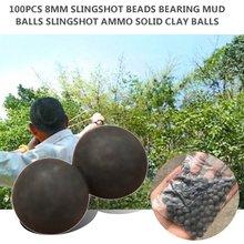 100 sztuk 10mm koraliki łożyska Mud Balls bezpieczeństwa nietoksyczny proca Ammo stałe gliny na zewnątrz polowanie strzelanie Paintball 2020 tanie tanie tanio green slingshot ammo paintball balls
