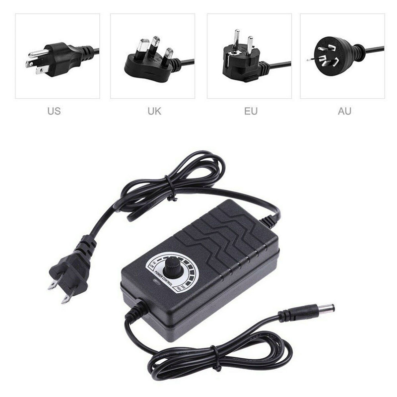AC/DC Adapter 1-12V 2A Adjustable Volt Power Supply Motor Speed Controller