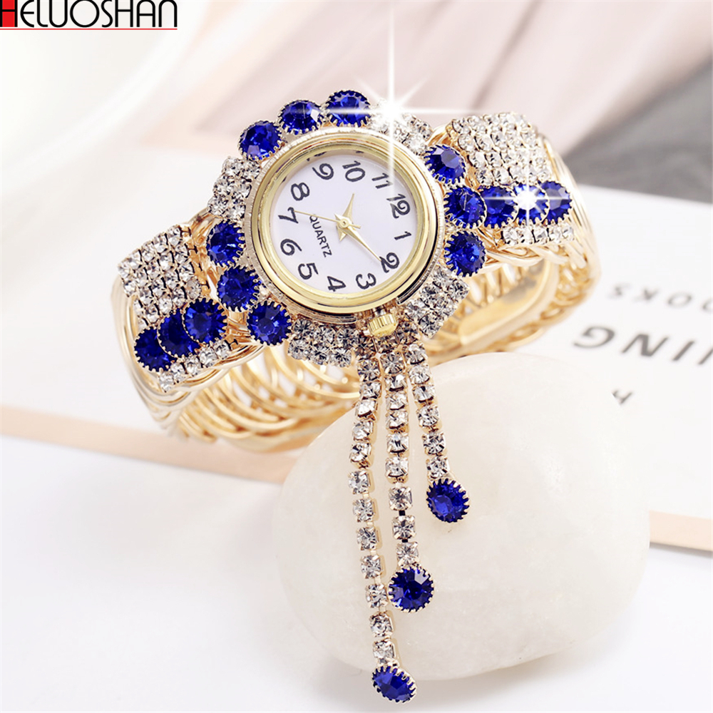 Bracelet Watch Clock Montre Rhinestone Feminino Top-Brand Luxury Relogio Femme Mujer