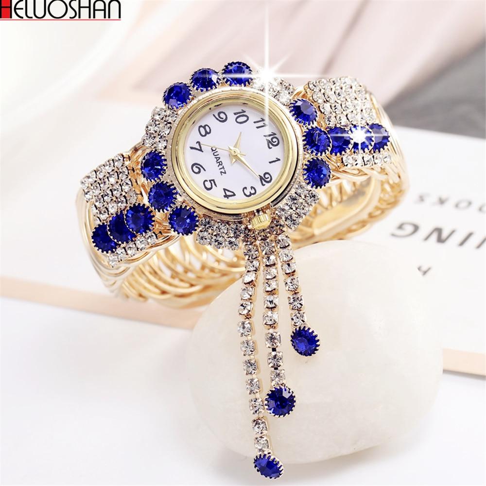 2019 Top marque de luxe strass Bracelet Montre femmes montres dames Montre-Bracelet Relogio Feminino Reloj Mujer Montre Femme horloge
