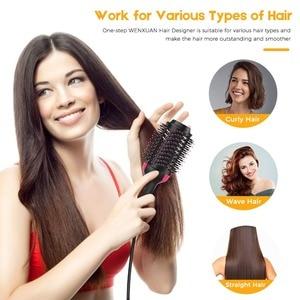 Один шаг фен для волос и объемный салон горячего воздуха весло щетка для укладки генератор отрицательных ионов выпрямитель для волос бигуд...