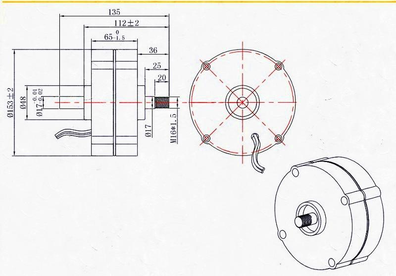 100S 200w D permanent magnet generator_副本