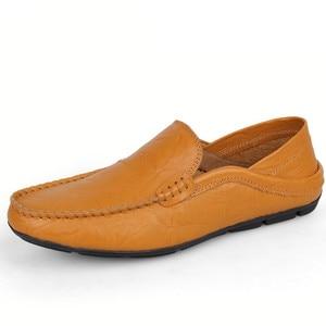 Image 3 - ขนาดใหญ่36 47รองเท้าบุรุษแฟชั่นฤดูใบไม้ผลิฤดูใบไม้ร่วงรองเท้าแตะชายหนังแท้รองเท้าผู้ชายแฟลตรองเท้า