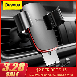 Baseus 空気出口電話自動ロック重力車ホルダーユニバーサル電話ホルダースタンド Iphone 11 プロ X Xs 7