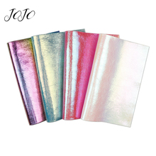 JOJO BOWS 22*30cm 4pcs Soft Faux Synthetic Leather Fabric For Craft Solid Sheet For Needlework Shoe Apparel Bag Sewing Material jojo bows 22 30cm 1pc synthetic leather fabric for crafts mermaid printed faux sheet for needlework bag apparel sewing materials