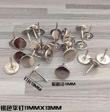 100 шт металлические кнопки, декоративные Thumbtacks, античный штырь, гвоздь, круглая форма, нажимные штыри для большого пальца, настенные Пробковые доски для офиса - Цвет: B