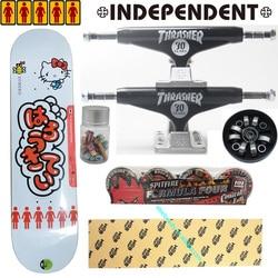 Intero kit indipendente camion spitfire ruote MOB grip nastro della ragazza ciao kitty skateboard decks super di buona qualità