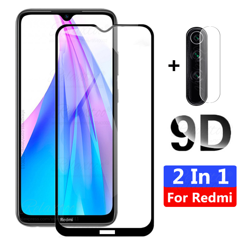 9D Tempered Glass For Xiaomi Redmi Note 8T 8 T Protective Camera Lens On Xiomi Redmi Note8 Note 8 T Pro Screen Protector Film 9H