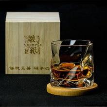 Японский Edo дизайнерские мнется Бумага нерегулярные Форма Ограненный Кристалл Der Whiskybecher виски стекло ROCK произведения искусства винный Кубок