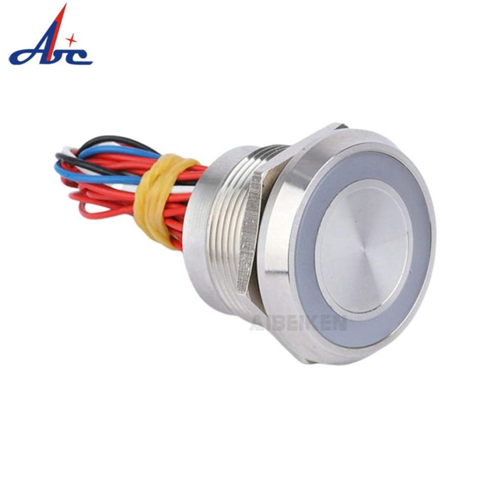 2а 22 мм пьезоэлектрический переключатель IP68 емкостный сенсорный переключатель водонепроницаемый кнопочный переключатель